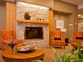 Cedar Springs PARC Retirement Residence - Lounge & Fireplace
