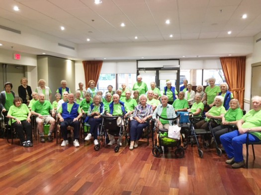 Mulberry PARC Residents that participate in PARC FIT exercise!