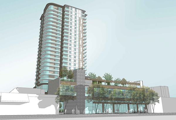 White Rock council has approved a development permit for a 23-storey, 202-unit seniors independent-living facility in the town centre.